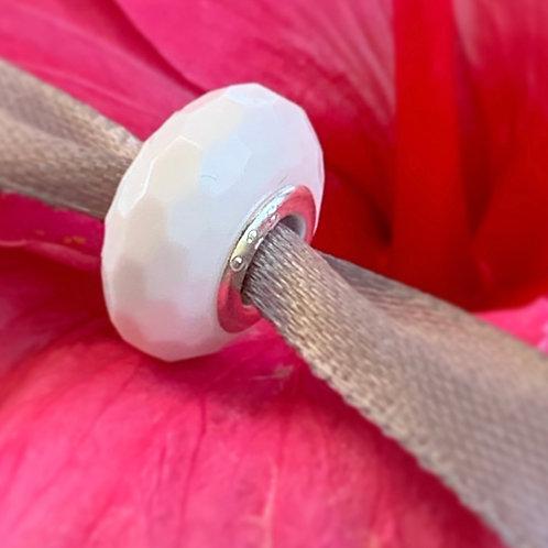 Mini perle lactée en relief compatible Pandora - Bijou au lait maternel
