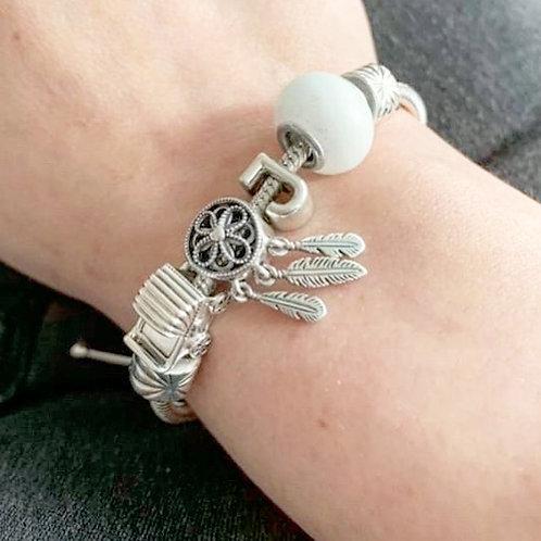 Perle lactée compatible Pandora - Bijou au lait maternel