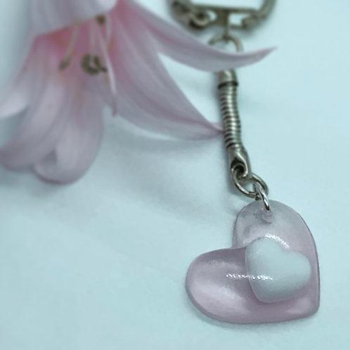 Porte clé cœur de lait - Bijou au lait maternel