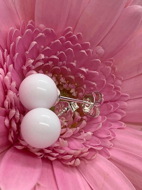 Puces d´oreilles Perles de lait - Bijou au lait maternel