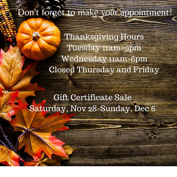 Don't forget to make your appointment! (