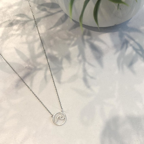 Wave Cut Out Coin Necklace
