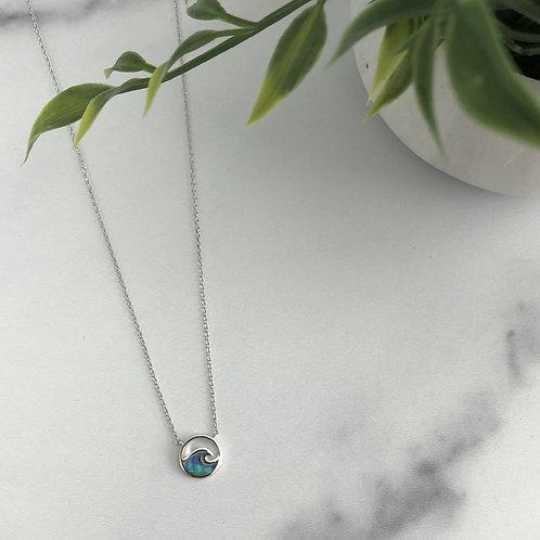 Wave Pendant Necklace