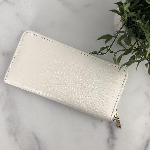White Snakeskin Wallet