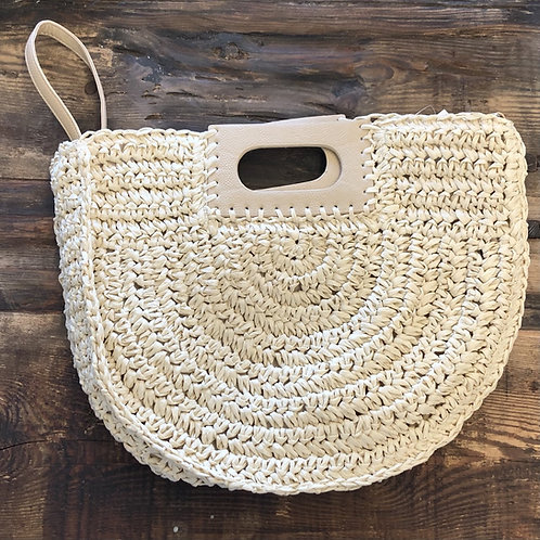 Cream Basket Weave Purse