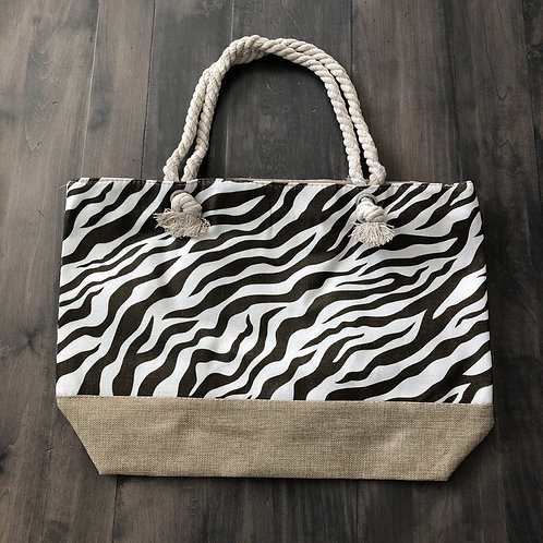 Zebra Beach Bag