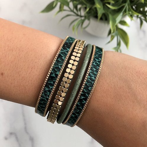 Green Holiday Bracelet