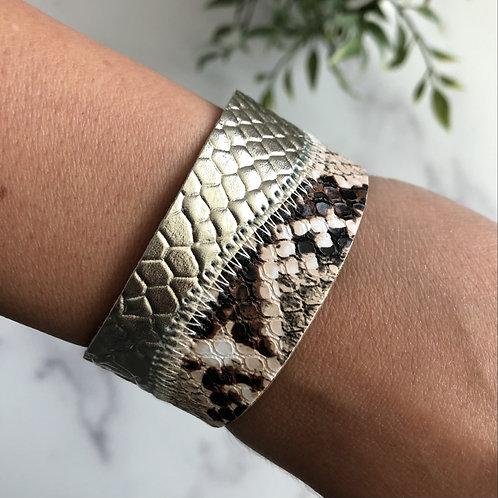 Gold Snakeskin Bracelet