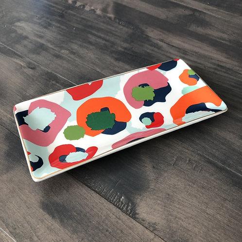 Multi Colored Leopard Trinket Tray
