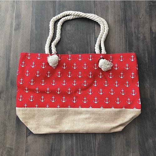 Red Anchor Beach Bag
