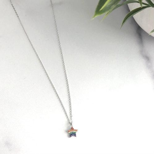 Rainbow Star Charm Necklace