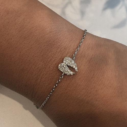 Silver Angel Wings Bracelet