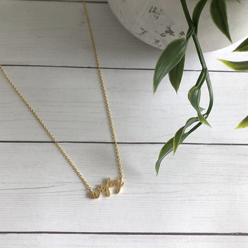 Gold Wifey Necklace