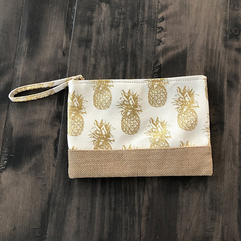 Gold Pineapple Clutch