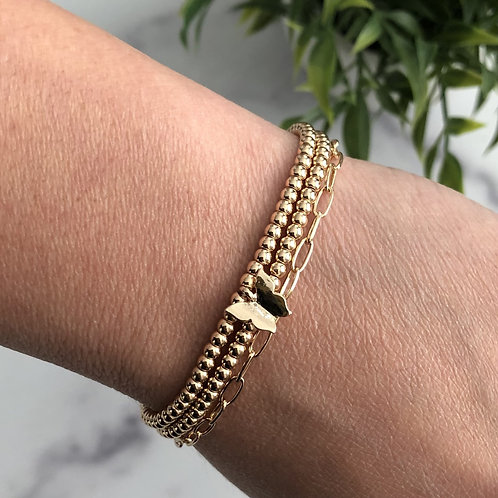 Gold Butterfly Beaded Bracelet