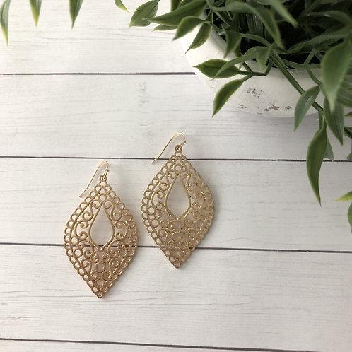 Gold Victorian Earrings
