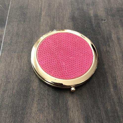 Pink Croc Compact Mirror