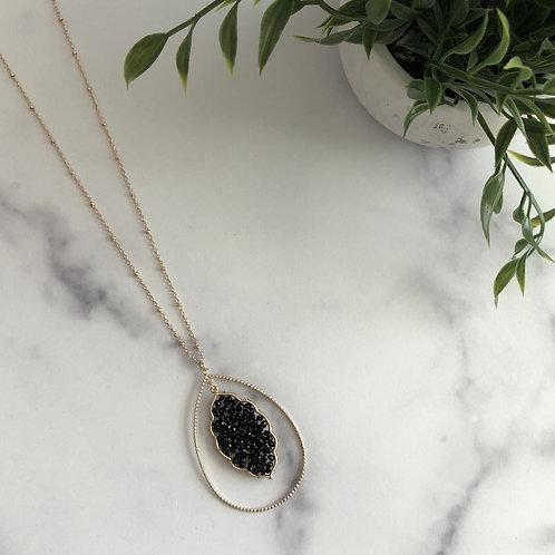Beaded Teardrop Necklace