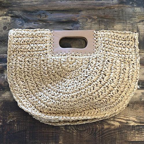 Tan Basket Weave Purse