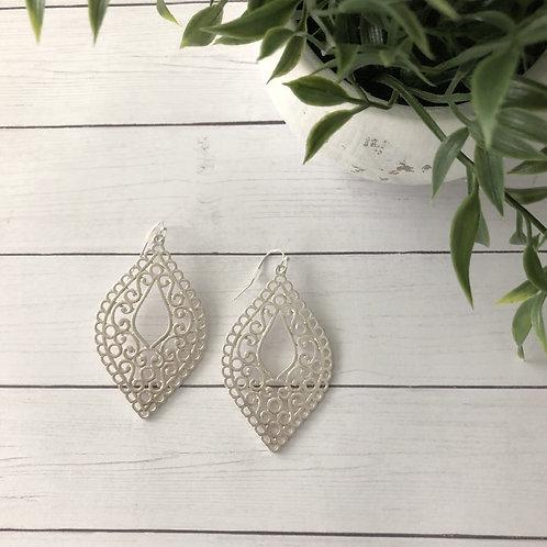 Silver Victorian Earrings