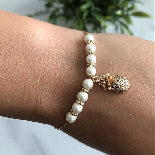 Gold Pineapple Bracelet