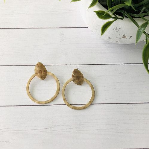 Round Rustic Earrings