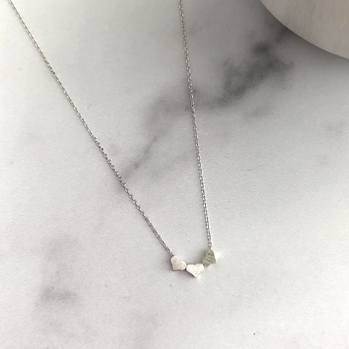 Silver Triple Heart Necklace