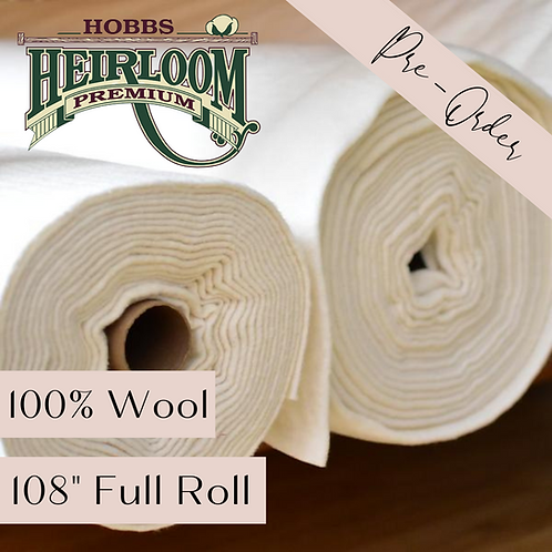 "Heirloom Premium 100% Wool - 108"" x 25 yds FULL ROLL"