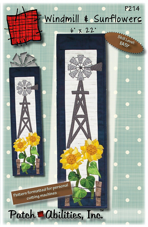 Windmill and Sunflowers Pattern