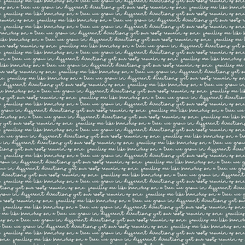 Text Teal Yardage - My Heritage Collection