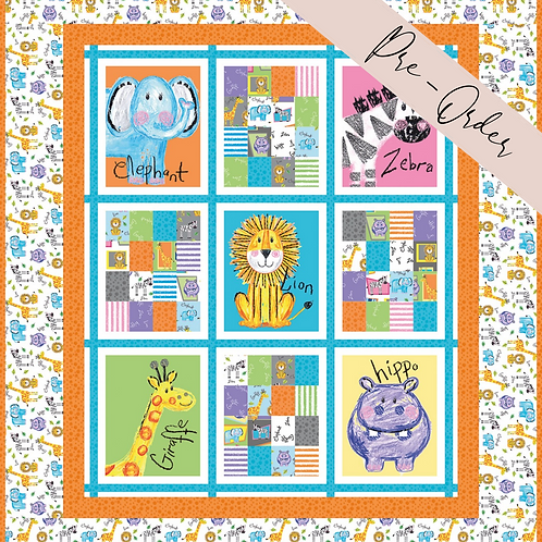 Colourful Friends Panel Quilt Kit - Colourful Friends Collection