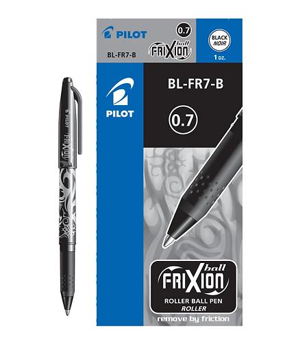Black - Frixion Pen Fine Point 0.7mm Heat Erase