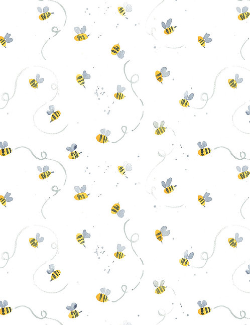 Busy Bees Yardage - Meant to Bee Collection