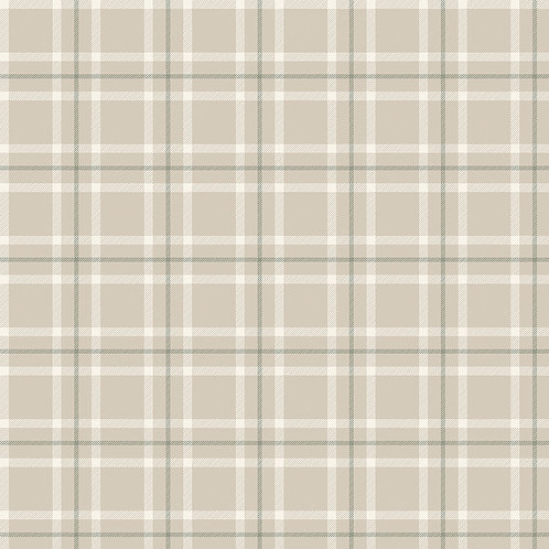 Plaid Parchment Yardage - My Heritage Collection