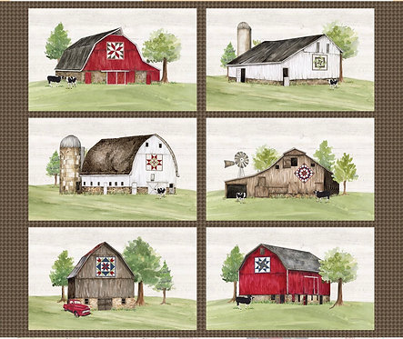 Barn quilt placemats panel