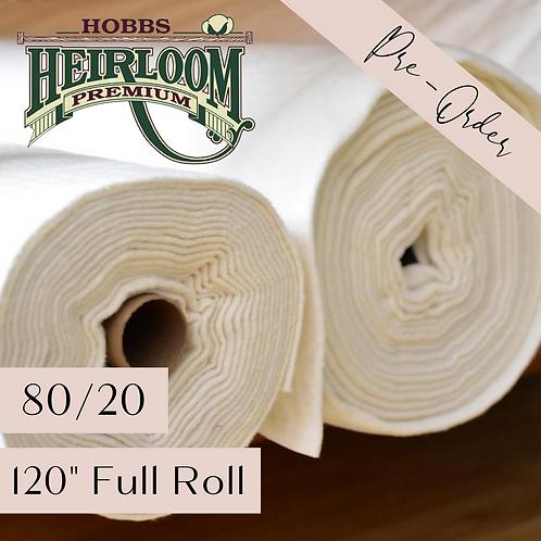 "Heirloom Premium Cotton Blend 80/20 - 120"" x 30 yds FULL ROLL"