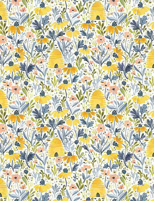 Beehive Garden Yardage - Meant to Bee Collection