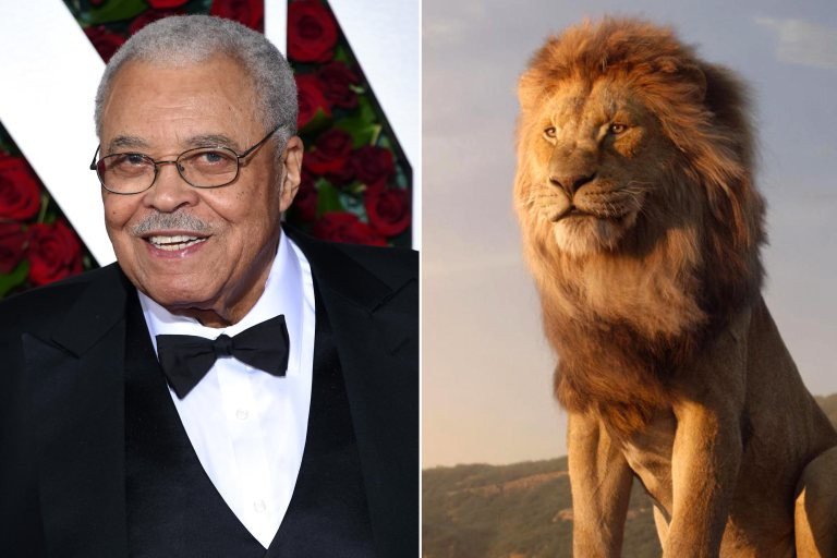 James Earl Jones as Mufasa in The Lion King Live Acton Remake. Photo Credit: Disney via Entertainment Weekly