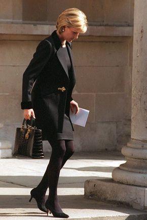 princess diana 90s trends black suit