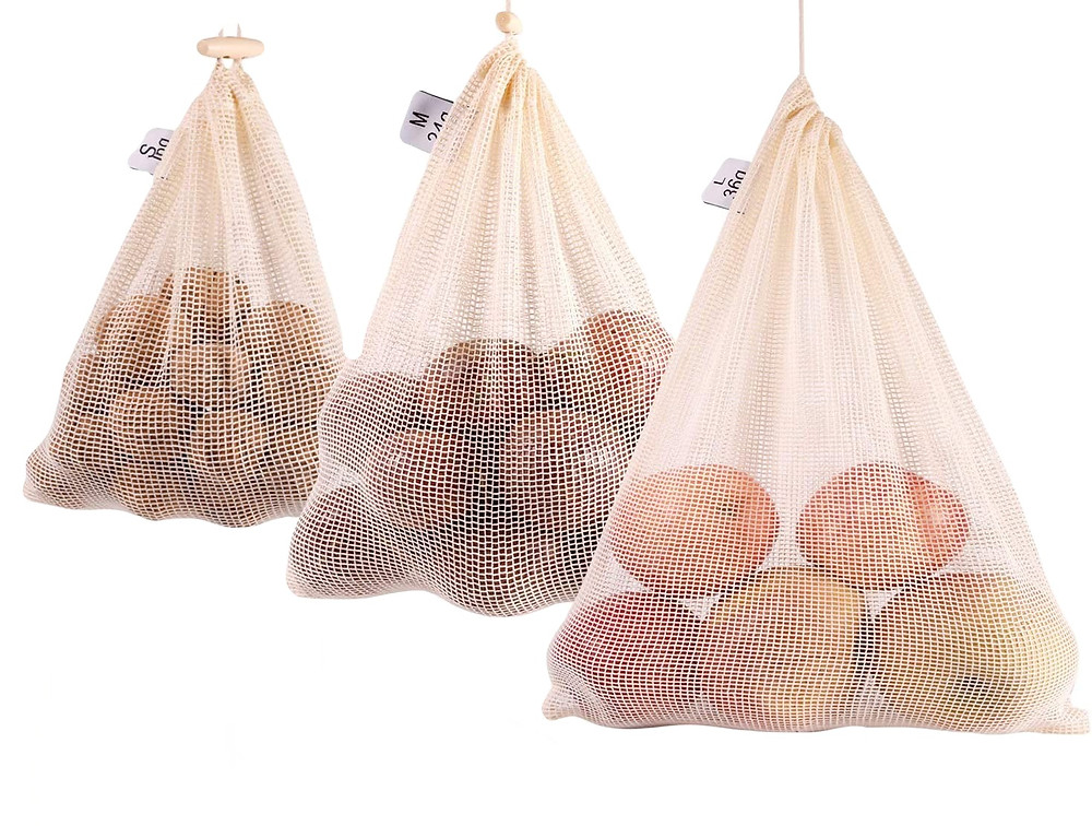 reusable eco-friendly organic produce bags