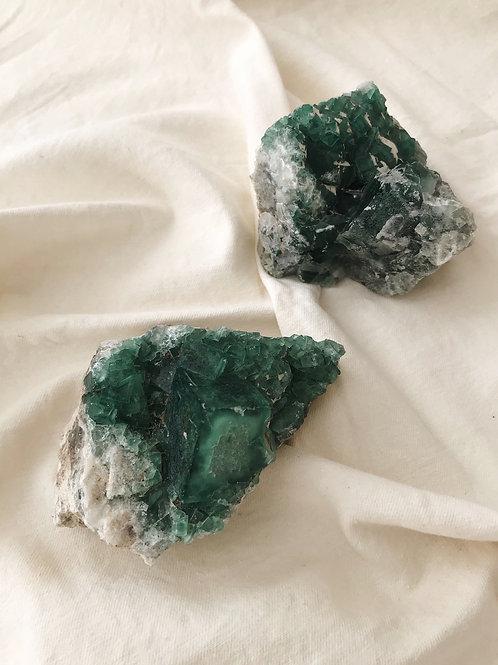 """Green Fluorite (3-3.5"""")"""