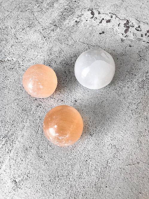 Selenite Spheres (40mm)