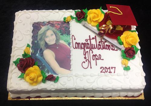 G-802 Senior Class photo cake