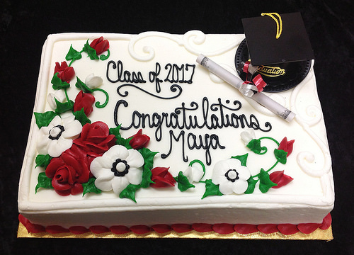 G-806 Cap & Diploma with floral