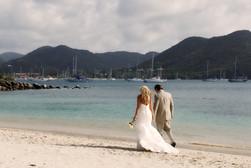 Walk on the beach wedding St Lucia