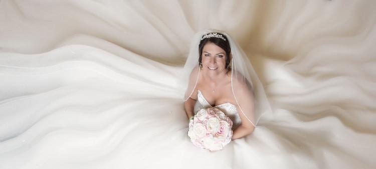 Wedding bride Wortley Hall