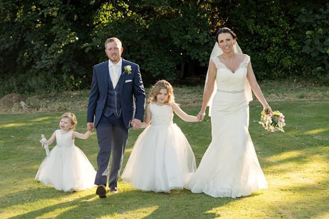 Wedding couple with Children
