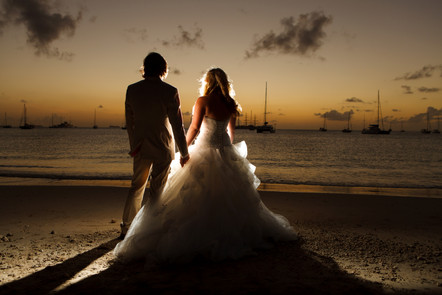 Sunset wedding Photographs