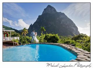 Wedding in St. Lucia, Caribbean.