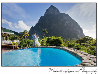 Wedding in St. Lucia, Caribbean.